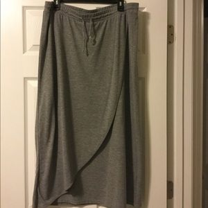 Heather gray Sonoma maxi skirt
